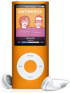 Apple iPod Nano 5th Generation Digital MP3 Player / Radio Orange 8GB Refurbished